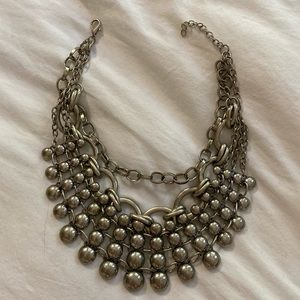Free People silver chain collar necklace